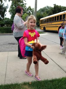 Lily, on her first day of kindergarten.