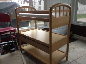 We had to work way too hard to give this changing table - still in perfectly good shape - away to someone who could use it.